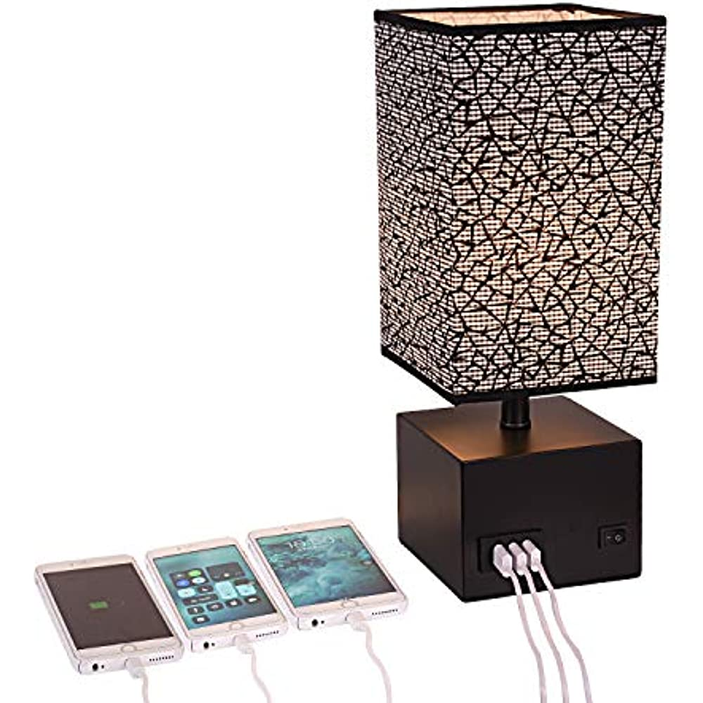 Usb Table Lamps Bedside Lamp Nightstand Amp Desk With 3