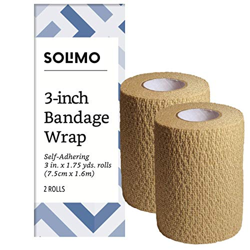 Amazon Brand - Solimo Self-Adhering Bandage, 3