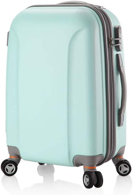 Color : Pink Fengkuo Universal Suitcase Trolley Case Suitcase Wheel Female 24 Traction Box Student Suitcase Password Box Color Green Yellow Size 61 43 29 cm Suitcase