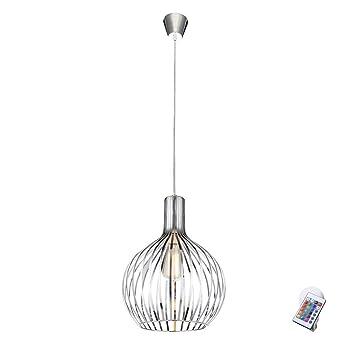 RGB LED Decken Hänge Lampe dimmbar Wohn Zimmer Beleuchtung RGB Fernbedienung E27
