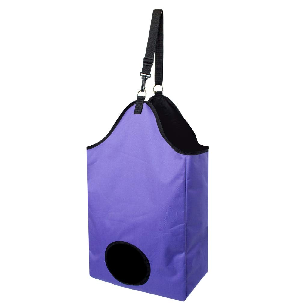 Purple Hay Bags for Horse Horse Care Products Folding Slow Feed Horse Oxford Hay Bag Tote with Hanging D Ring and Adjustable Strap by Viet-GT 1 PCs