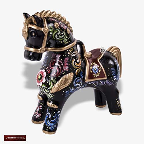 Handpainted Black Peruvian Paso Horse 10.5