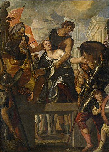 Oil Painting 'Veronese Paolo The Martyrdom Of Saint Mena Ca. 1580' 10 x 14 inch / 25 x 35 cm , on High Definition HD canvas prints is for Gifts - Santa Airport Anna