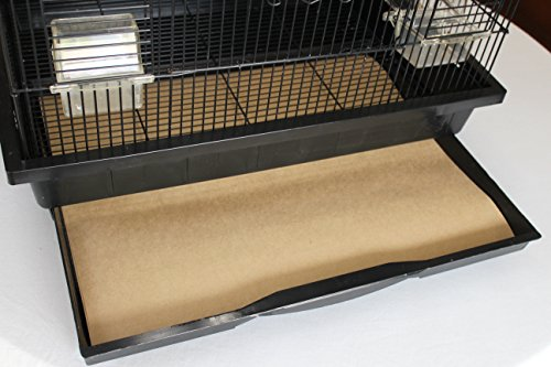 Bird Cage Liners - Large Cages - Pick-Your-Size - 100 Count - 40 Pound - 19 x 25
