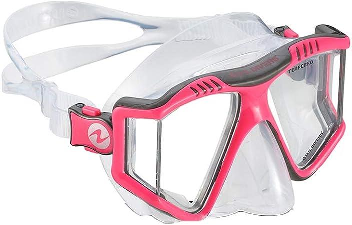 Lunettes de plong/ée pour Adultes Lunettes Snorkel /Équipement de plong/ée en apn/ée pour Femmes et Hommes Natation Plong/ée sous-Marine en plong/ée Libre SolUptanisu Snorkel Mask Set