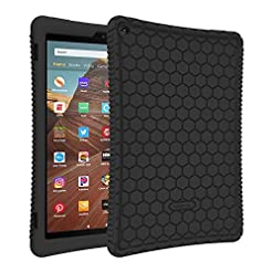 FINTIE Silicone Case for All-New Amazon Fire HD 10 Tablet (Compatible with 7th and 9th Generations, 2017 and 2019…