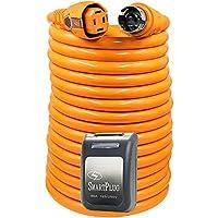 SmartPlug 50 Amp 50 Dual Configuration Cordset w/Marina Twist-Type Connector & 50 Amp Non-Metallic Inlet - Black
