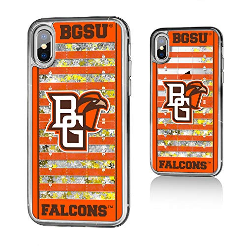Keyscaper KGLGIX-0BOW-VFLD01 Bowling Green State Falcons iPhone X/XS Glitter Case with BGSU Football Field Design (Store Bowling Green Apple)