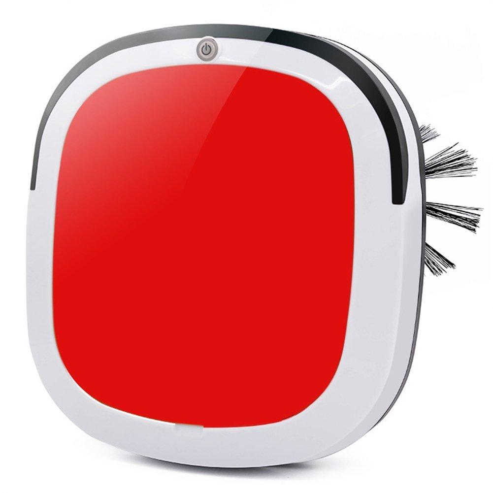 Clock Robot Aspirador Ultra Delgado Inteligente Recargable Seco Mojado Barrer Máquina US/UE Plug,Red: Amazon.es: Hogar