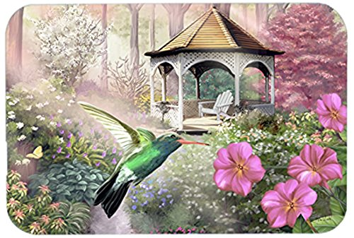 Caroline's Treasures PTW2052LCB Garden Gazebo Hummingbird Glass Cutting Board, Large, Multicolor