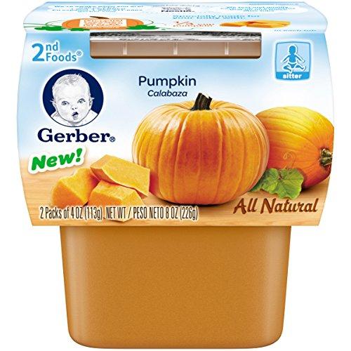 Gerber 2nd Foods Pumpkin, 4 oz Tubs, 8 Count
