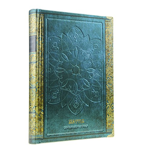 Hardbound Journal - Hardcover Lined Page Notebook 258 Page Writing Journal Diary with Flower Edge Wirebound Composition Notebook 7.3