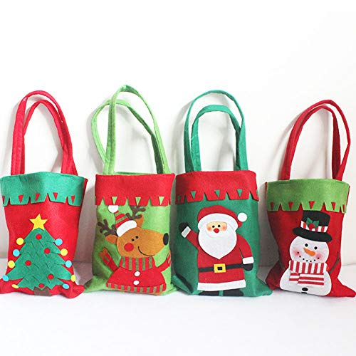 YaptheS Christmas Candy Bags Small Handbag Gift Treat Goodie Tote Bag for Kids Children Home Decorations Shopping (Snowman) Christmas Gift by YaptheS (Image #2)