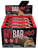 Pro Supps MyBar PRO Protein Bar, Delicious Triple Layered, Soft Oven-Baked, 30g Protein, 4g Sugar, 12 count (Caramel Craze Flavor)