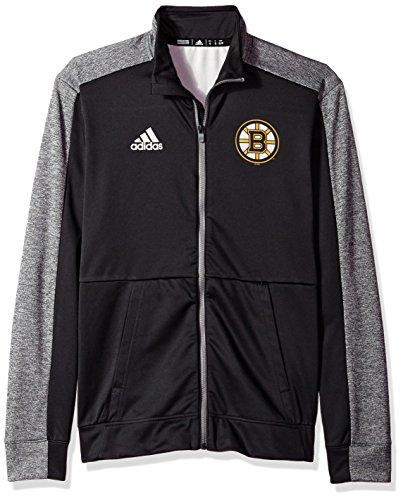 NHL Boston Bruins Mens Authentic Full Zip Track Jacketauthentic Full Zip Track Jacket, Black, Large