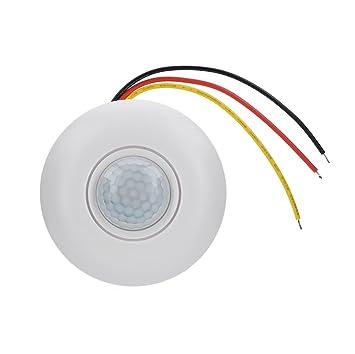 Richer-R Interruptor de Sensor,Switch Control Automático para Luz, Montaje en Techo Lámpara 360° Inteligente Detector de Movimiento por PIR para Pasillos ...