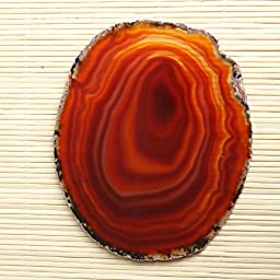 Hongjiantian 2pcs Crystal Natural Sliced Agate Slab Coasters Agate Slice for Tea Cup