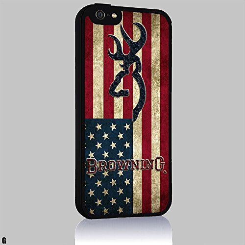 Browning Deer USA Flag Iphone 4/4s 5 5c 6 6plus Case (iphone 6 black) by -