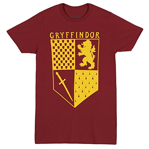 Harry Potter Gryffindor House Crest Adult T-Shirt (Medium)]()