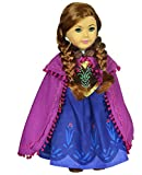 Ebuddy Snow Sparkle Princess Dress Clothes Fits 18 Inch Dolls