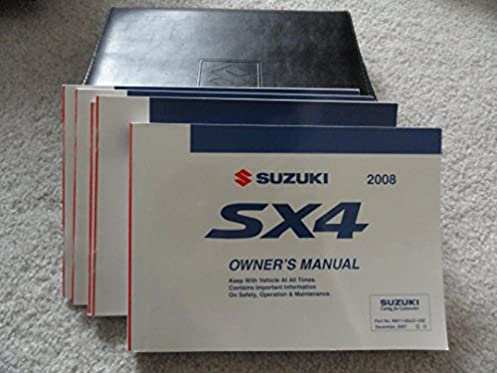 2008 suzuki sx4 owners manual suzuki amazon com books rh amazon com 2008 suzuki sx4 sedan owners manual 2009 Suzuki SX4 Hatchback
