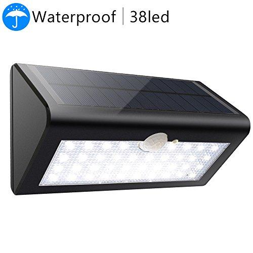 38 LED Solar Power Lights Waterproof Super Bright - EnerEco Motion Sensor Wireless Outdoor Security Wall Mount Night Light Lamp for Front Door Patio Deck Yard Garden