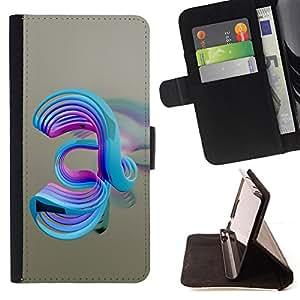 - Abstract Swirls - - Prima caja de la PU billetera de cuero con ranuras para tarjetas, efectivo desmontable correa para l Funny HouseFOR Samsung Galaxy S5 V SM-G900
