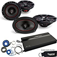 MB Quart ZA2-1600.4 Amp, a pair of XK1-116 6.5 Speakers, a pair of XK1-169 6x9 Speakers & Wire Kit