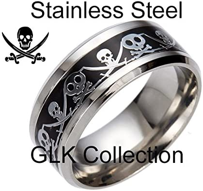 Captain Jack Stainless Steel Comfort Fit Wedding Band Ring Ginger Lyne Collection