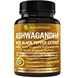 Organic Ashwagandha Root Powder 1200mg - 120
