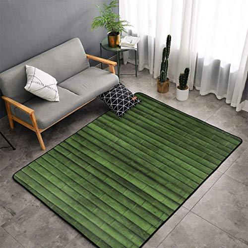 Green Bamboo Area Rugs, Bedroom Living Room Kitchen Rug, Doormat Floor Mat Shaggy Rugs, Children Play Rug Carpet Spa Bathroom Floor Mats, Throw Rugs Carpet
