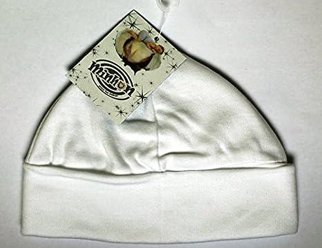 Gorro Bebe, Idee regalo nacimiento, lactancia, de 0a 3meses, color blanco