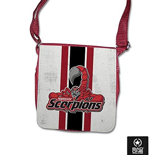 """Hannover Scorpions Umhängetasche """"Logo mit Streifen"""", Rot"""