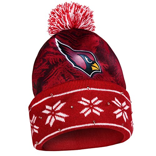 NFL Big Logo Light Up Printed Beanie Knit Cap (Arizona (Big Logo Beanie)