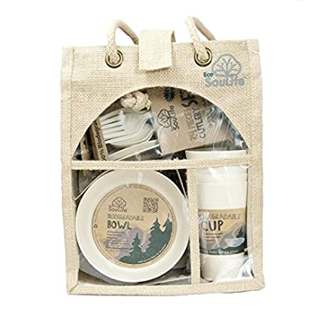 EcoSouLife Bamboo - Picnic Set for 4 Sand  sc 1 st  Amazon.com & Amazon.com | EcoSouLife Bamboo - Picnic Set for 4 Sand: Accent Plates