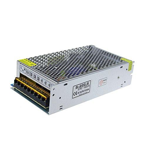 ALITOVE 5V 40A 200W Power Supply Transformer Adapter Converter 110V/220V AC to DC 5V 40amp LED Driver for WS2812B WS2811 WS2801 APA102 LED Strip Pixel Light CCTV Camera Security System