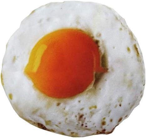 Simulación Novedad Gruesa Lona mordida Sonido Pet Toy Huevo Frito ...