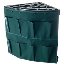 Stalwart Corner Tool Rack with Storage Bag, Tool Holder