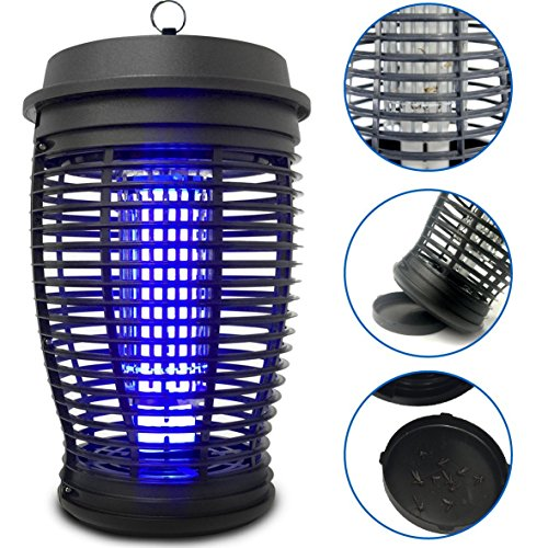 Lamp Repellent Mosquito (EasyGoProducts Zapper - Mosquito Bug Killer Trap - Powerful 18 Watt Light Lamp - Indoor and Outdoor Use)