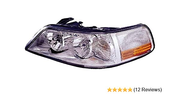 Halogen Head Lamp Assembly Set of 2 LH /& RH Side Fits 2003-2004 Lincoln Town Car