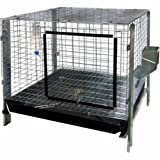 Advantek Small Animal Complete Rabbit Hutch Kit, 24 by 24-Inch