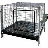 Advantek Small Animal Complete Rabbit Hutch Kit, 24 by 24-Inch