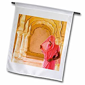 Danita Delimont - Hinduism - Arches, Amber Fort temple, Rajasthan Jaipur India -AS10 BBA0167 - Bill Bachmann - 18 x 27 inch Garden Flag (fl_72576_2)