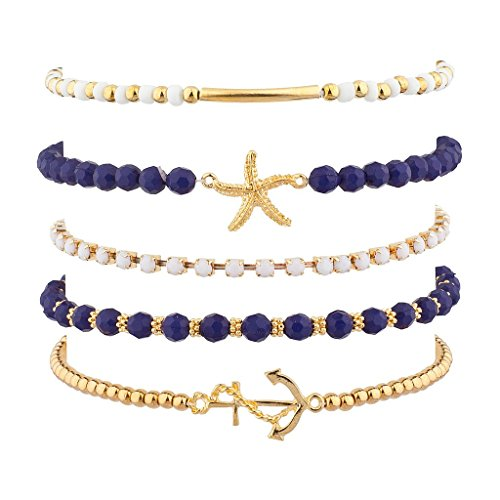Lux Accessories Nautical Starfish Anchor
