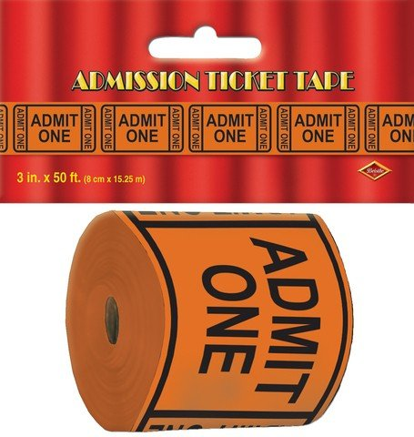 Admission Ticket Tape Poly Decorating Material