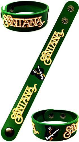 [Santana American Latin Rock band Music Band Logo Sign Rubber Silicone Bracelet Wristband by BEST] (Canada Dance Costumes)