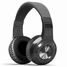 kiwitatá Bluedio H+ Plus Turbine Wireless Bluetooth Headphones V4.1 Bass Stereo Over-ear Headset with Mic FM Radio Support SD Card for iPhone Samsung (H+, Black)