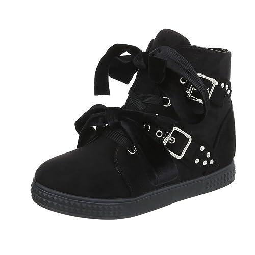 Zapatos para mujer Zapatillas Plataforma Zapatillas High Ital-Design: Amazon.es: Zapatos y complementos
