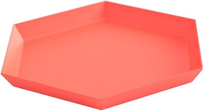 Kaleido S - Bandeja rojo claro/22x19cm: Amazon.es: Hogar