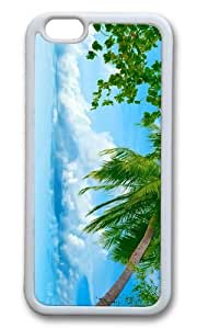 MOKSHOP Adorable beach sea palms hd Soft Case Protective Shell Cell Phone Cover For Apple Iphone 6 (4.7 Inch) - TPU White by lolosakes